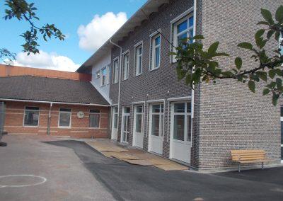Sofiebergsskolan, nybyggnad och om- och tillbyggnad av skola, Halmstad