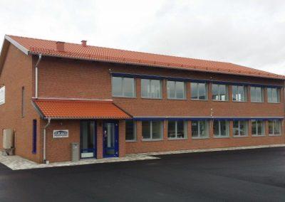 Kontor åt egna verksamheten, Nybyggnad, Höganäs