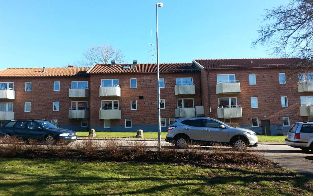 Takomläggning och fönsterbyte på flerbostadshus, Billesholm