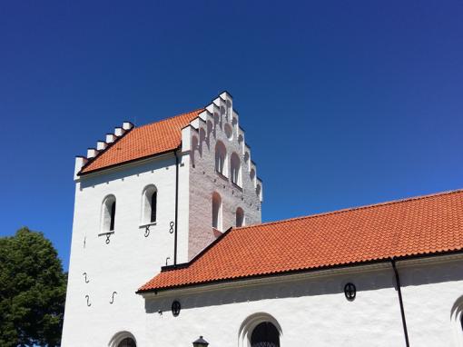 Ausås kyrka, takomläggning och fasadrenovering, Ausås, Ängelholm