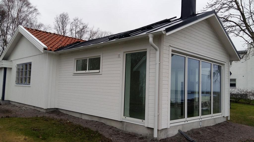Fritidshus, tillbyggnad av fritidshus