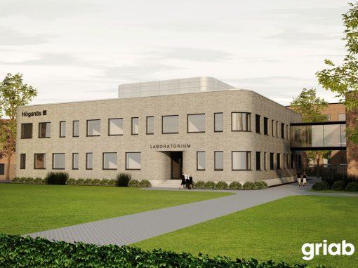 Laboratorium åt Höganäs Sweden AB, Nybyggnad