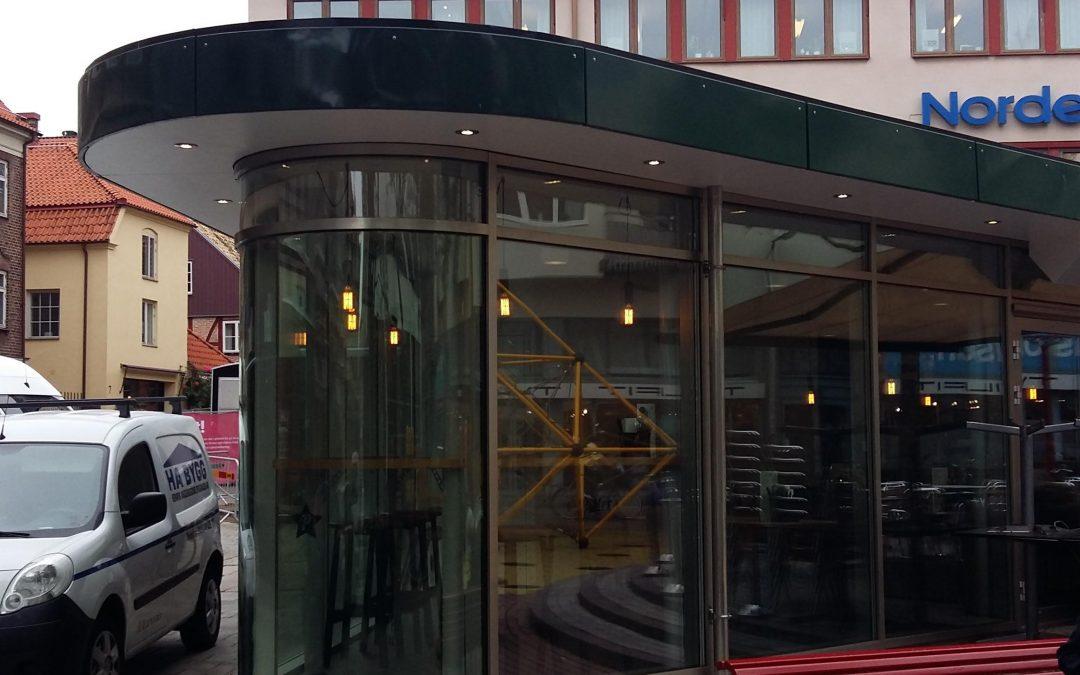 Petters Kiosk, Tillbyggnad av kiosk med serveringsdel, Helsingborg