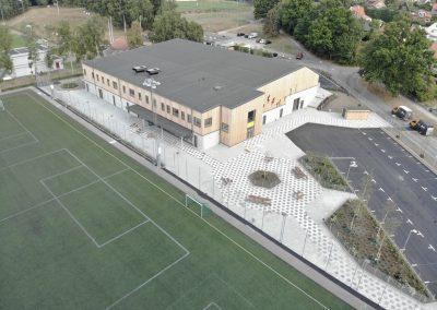 Harlyckehallen, Nybyggnad av idrottshall, Helsingborg