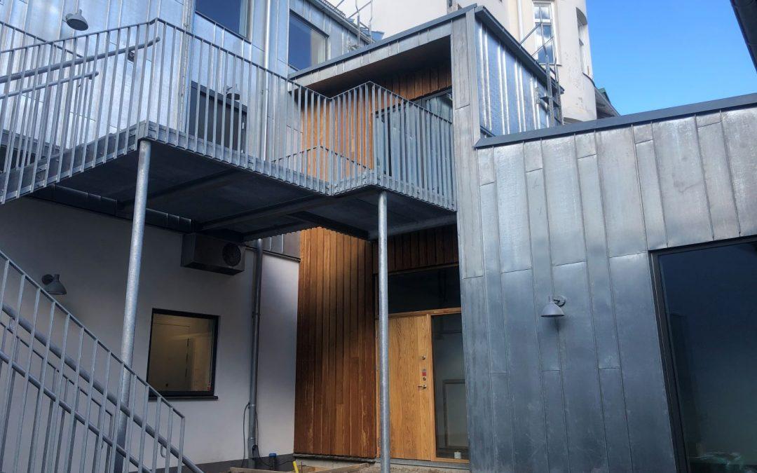Ejdern 3, Tillbyggnad av kontor och lägenheter, Ängelholm